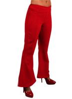 70 ' s Ladies évasés pantalon rouge Disco Deguisement Femme