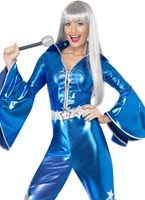 70 ' s Dancing Queen combinaison bleu Disco Deguisement Femme