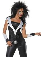 70 ' s Glam Rock Chick Costume Disco Deguisement Femme