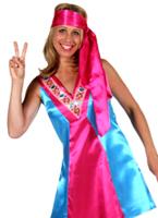 Mesdames 70 s Satin robe de Go-Go Disco Deguisement Femme