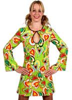 Robe de conception pour le coeur des années 70 Disco Deguisement Femme