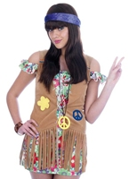 Flower Power Girl Costume Disco Deguisement Femme