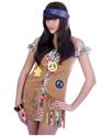 Disco Deguisement Femme Flower Power Girl Costume
