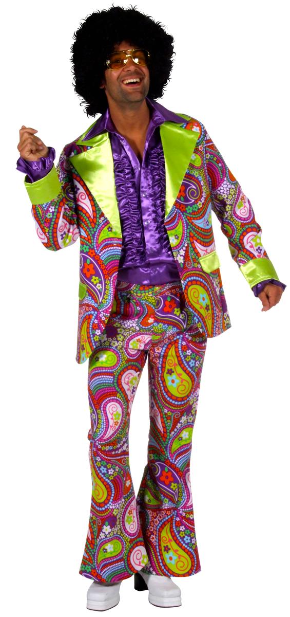 Disco Déguisement Homme Costume de couleur Funky 70 ' s