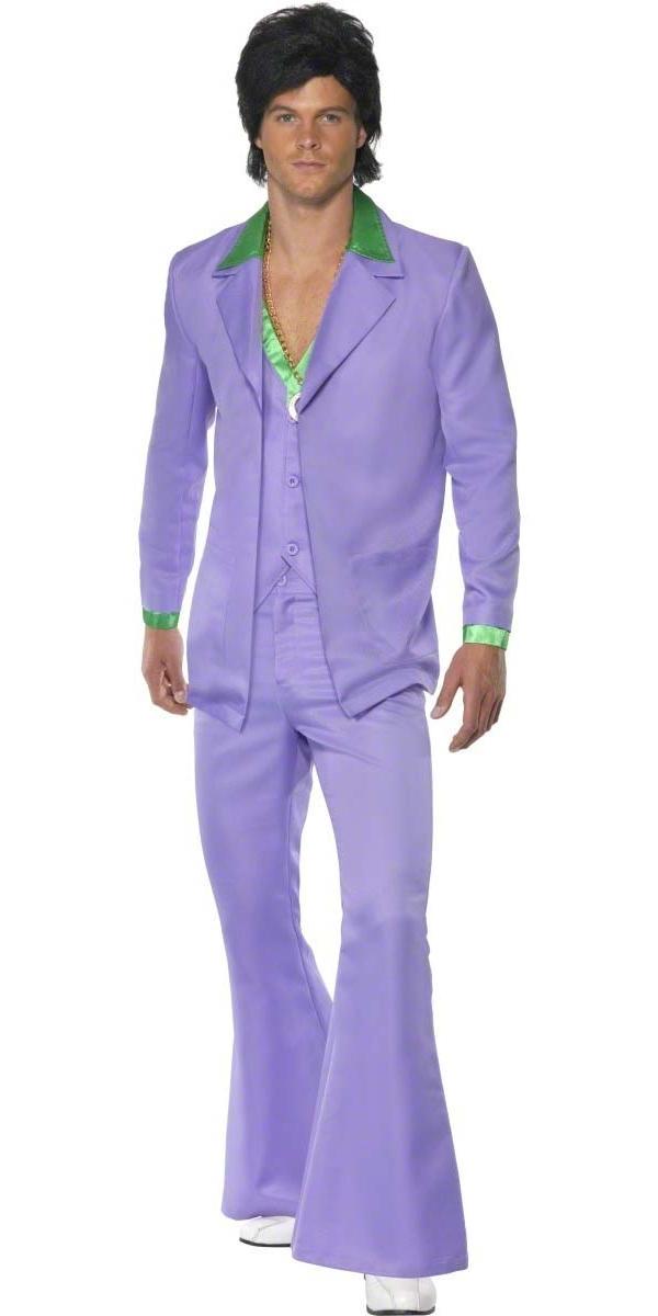 Disco Déguisement Homme 70 ' s Mens lavande costume Costume