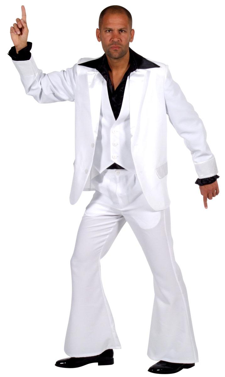 Disco Déguisement Homme 70 ' s Deluxe Mens costume blanc
