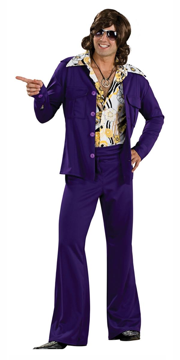 Disco Déguisement Homme 70  s Purple Leisure Suit