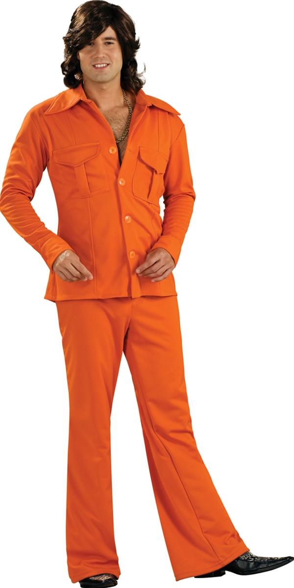 Disco Déguisement Homme 70 ' s Orange Leisure Suit
