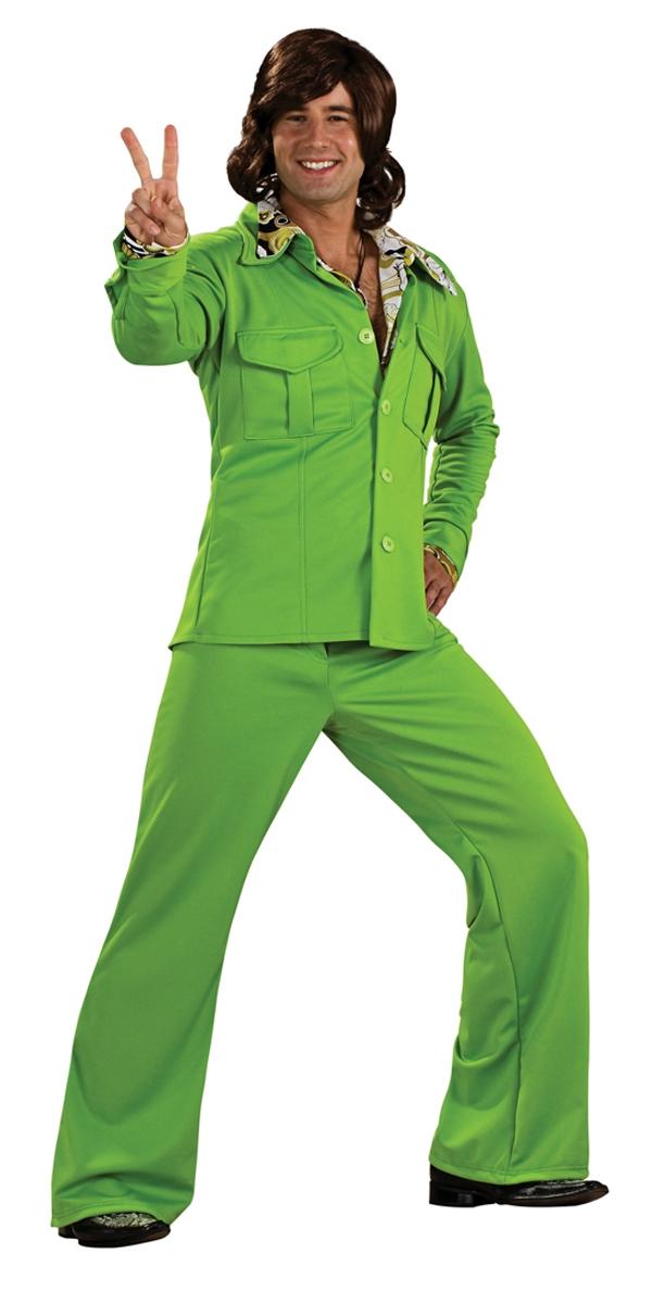 Disco Déguisement Homme 70 ' s vert Leisure Suit