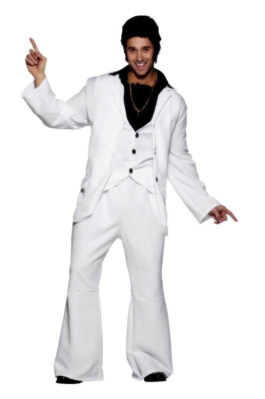 Disco Déguisement Homme Disco Mans Costume blanc noir