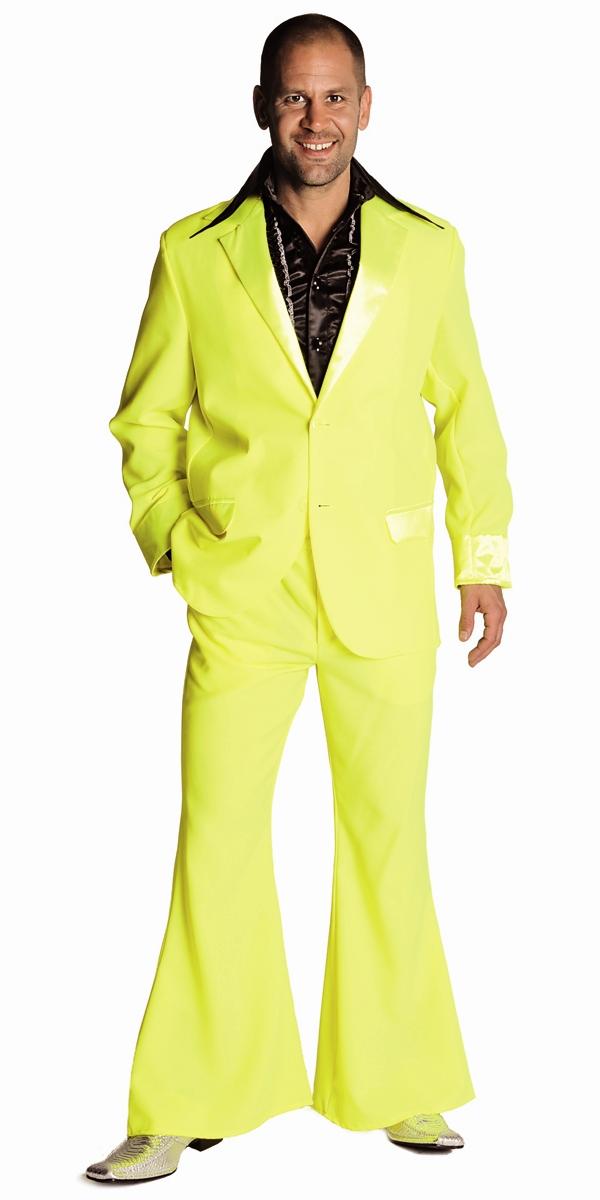 Disco Déguisement Homme 70 ' s Mens costume jaune