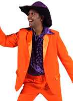 70 ' s Mens costume ORANGE Disco Déguisement Homme