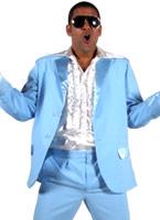 70 ' s Mens costume bleu clair Disco Déguisement Homme
