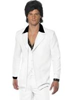 70 ' s Mens blanc costume Costume Disco Déguisement Homme
