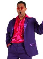 70 ' s Mens costume violet Disco Déguisement Homme