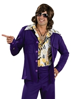 70 ' s Purple Leisure Suit Disco Déguisement Homme