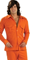70 ' s Orange Leisure Suit Disco Déguisement Homme