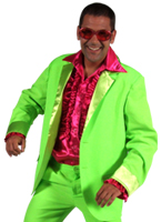 70 ' s Mens costume vert Disco Déguisement Homme