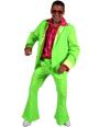 Disco Déguisement Homme 70 ' s Mens costume vert