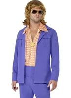Mens années 1970 Leisure Suit Costume Disco Déguisement Homme