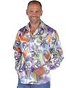 Disco Déguisement Homme Chemise en Satin Cool Mens 70 ' s