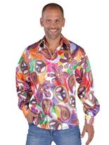 70 ' s Mens amusant chemise en Satin Disco Déguisement Homme
