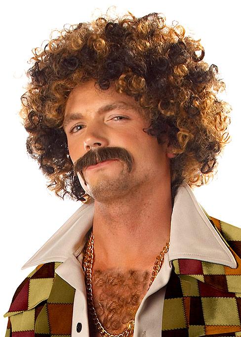 Perruque Disco Perruque sac Dirt Disco & Moustache