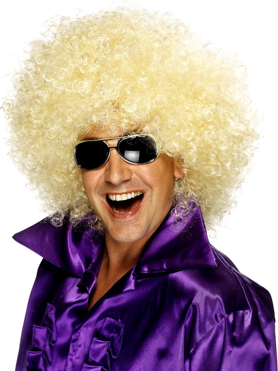 Perruque Disco Méga énorme perruque Afro Blonde