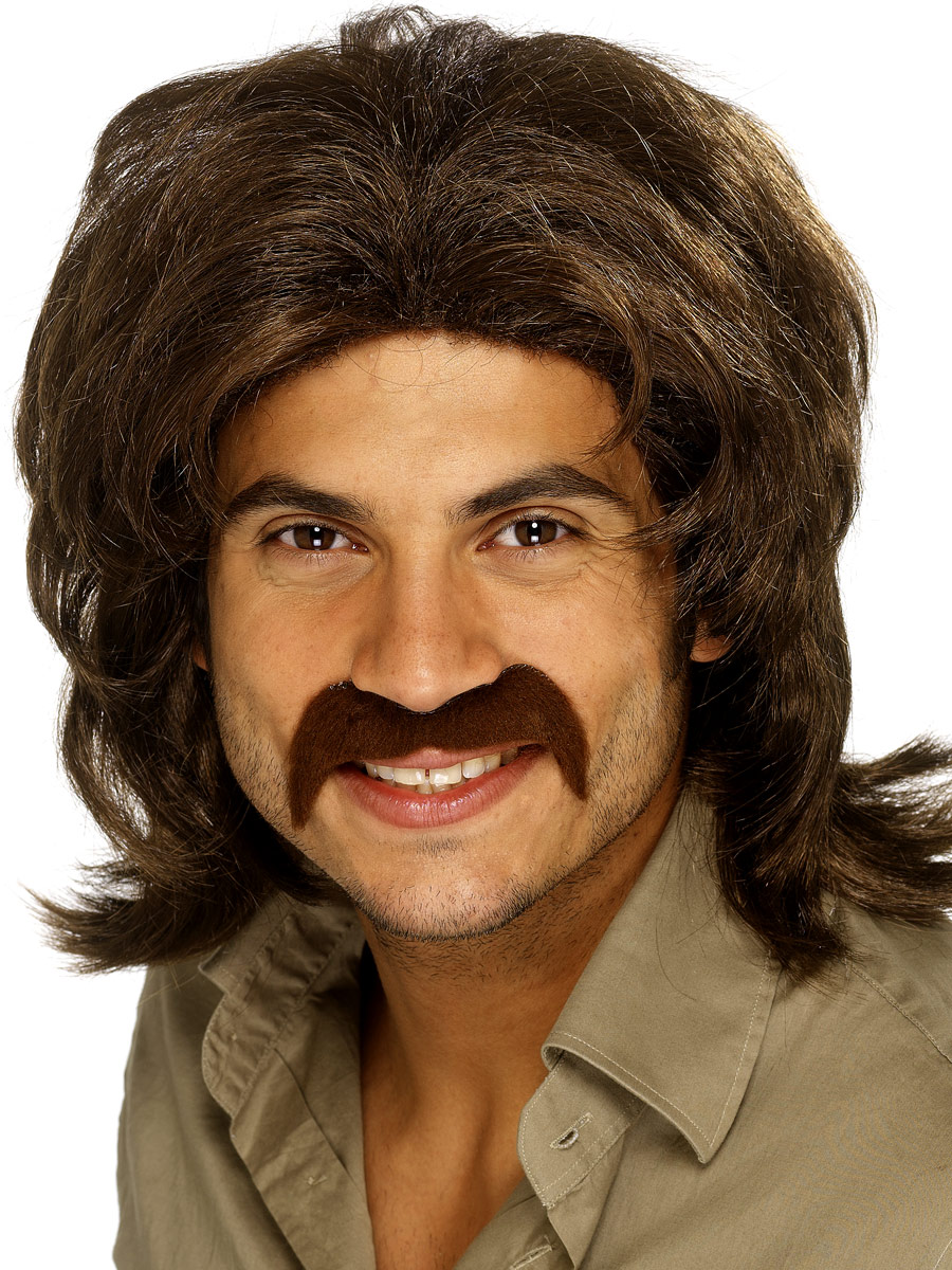 Perruque Disco Brown perruque 70 ' s