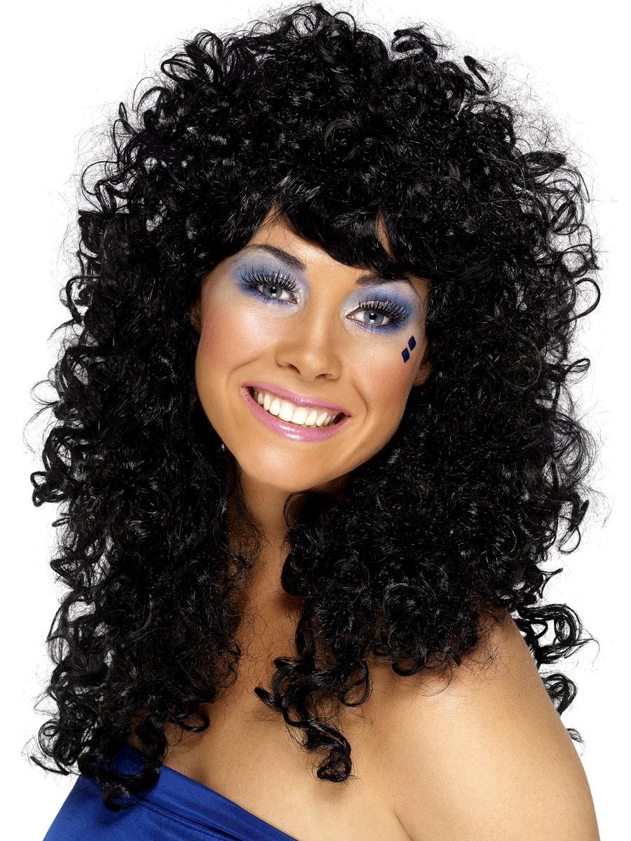 Perruque Disco Boogie Babe perruque noir