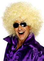 Méga énorme perruque Afro Blonde Perruque Disco