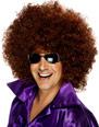 Perruque Disco Méga énorme perruque Afro brun