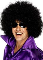 Méga énorme perruque Afro noir Perruque Disco