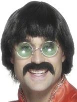 70 ' s perruque noir Perruque Disco