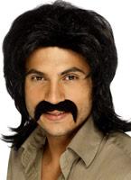 70 ' s Guy perruque noire Perruque Disco