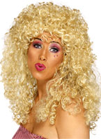 Boogie Babe perruque Blonde Perruque Disco