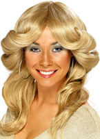 années 70 couches Flick perruque Blonde Perruque Disco