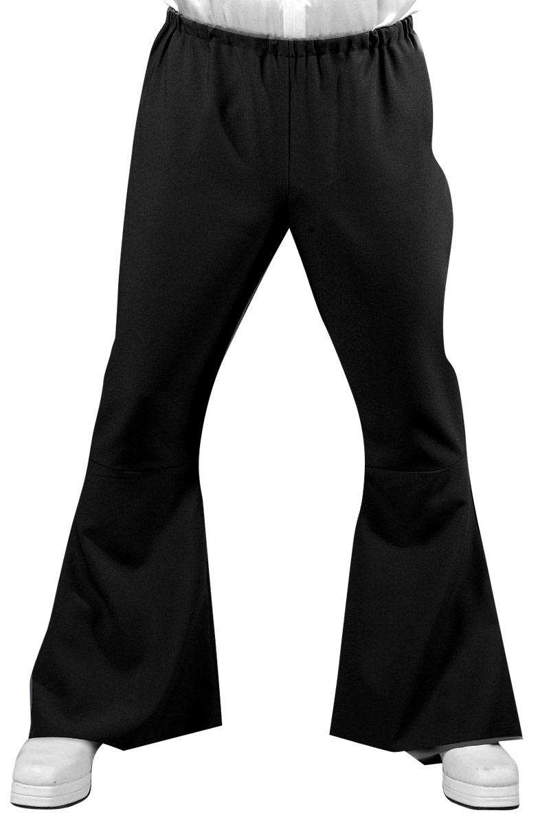 Vêtement Disco 70 ' s Mens évasés pantalon noir