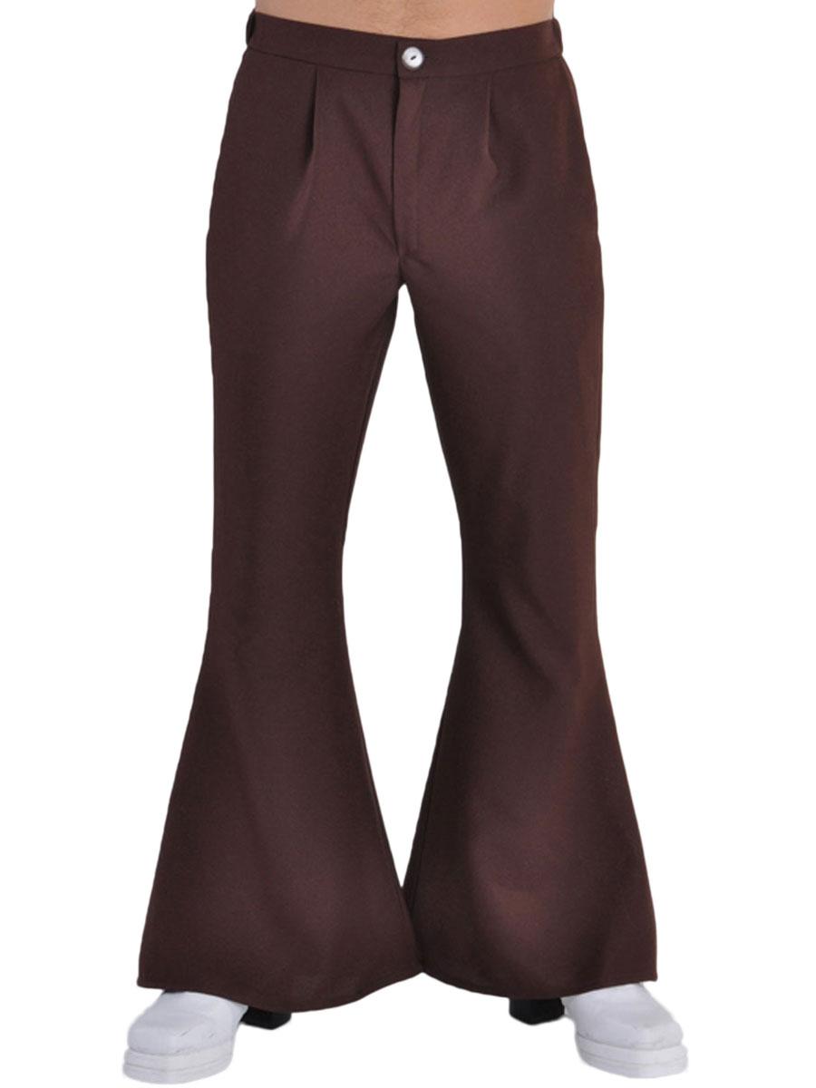 Vêtement Disco 70 ' s Mens évasés pantalon brun