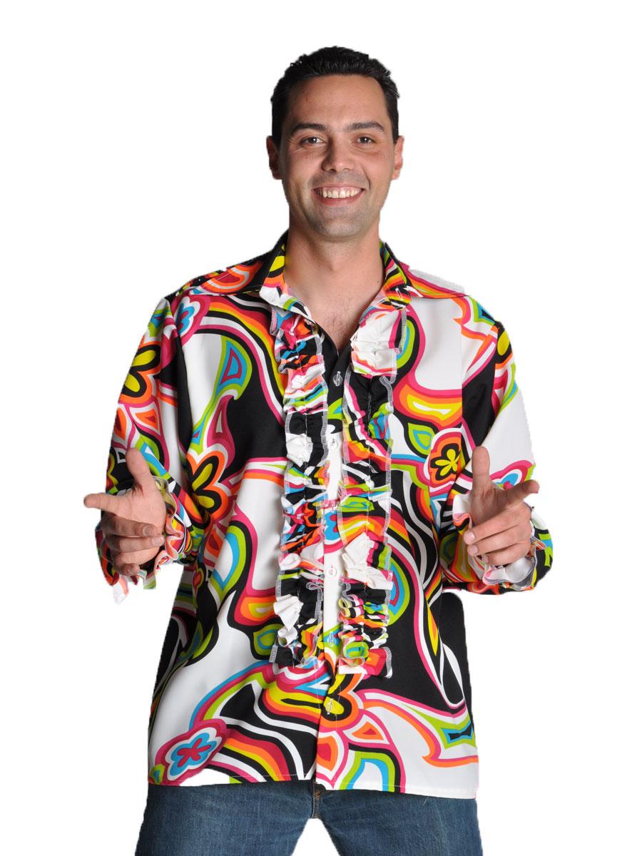 Vêtement Disco 70 ' s Mens liquide Design chemise