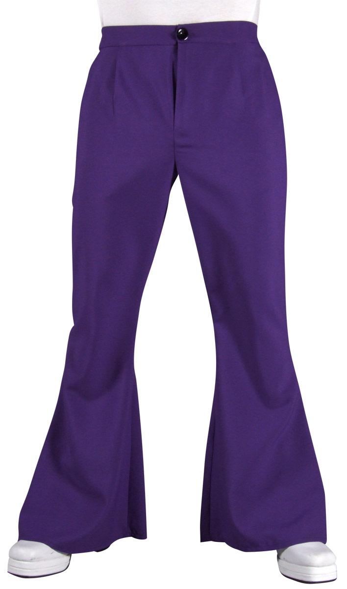 Vêtement Disco 70 s Mens évasés pantalon violet
