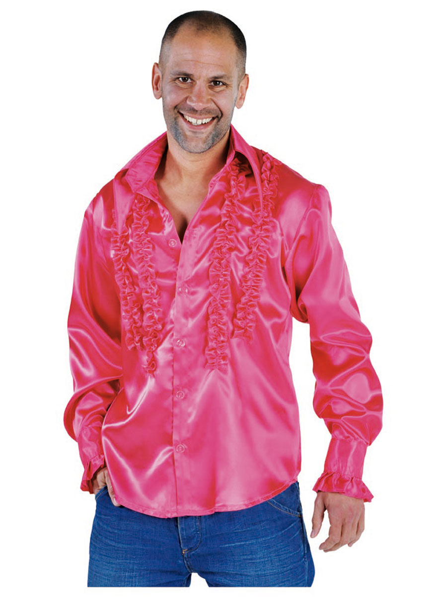 Vêtement Disco Mens Soul chemise rose