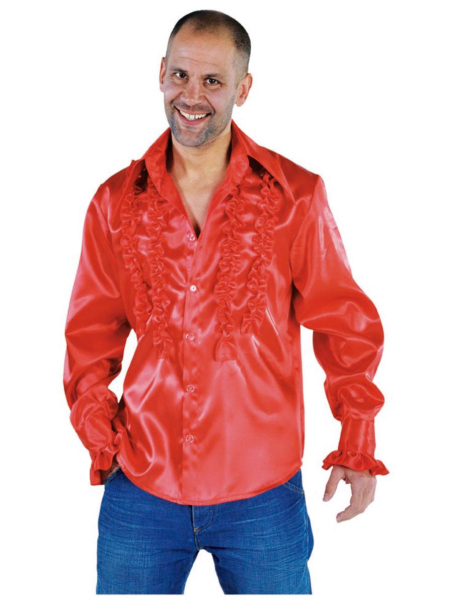 Vêtement Disco Mens Soul chemise rouge