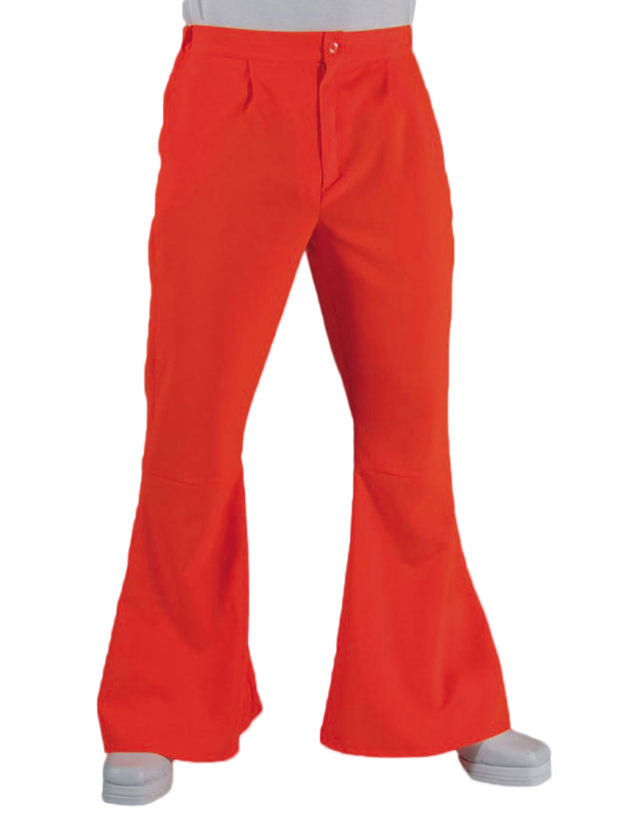 Vêtement Disco 70 ' s Mens évasés pantalon Orange