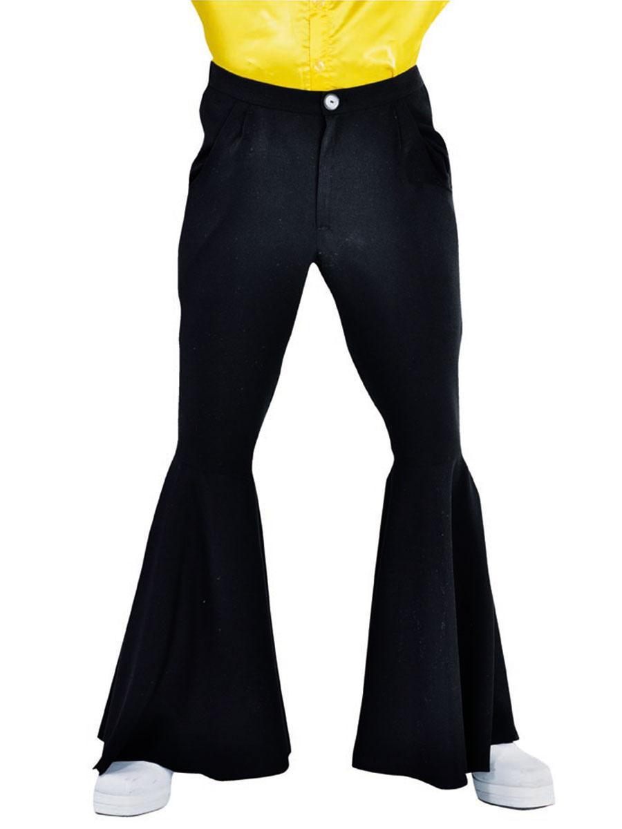 pantalon hippie noir luxe mens v tement disco d guisement. Black Bedroom Furniture Sets. Home Design Ideas