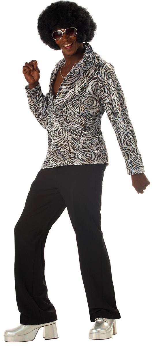 Vêtement Disco Costume chemise Disco Groovy