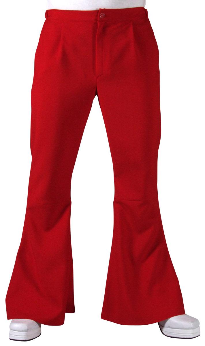 Vêtement Disco 70 s Mens évasés pantalon rouge