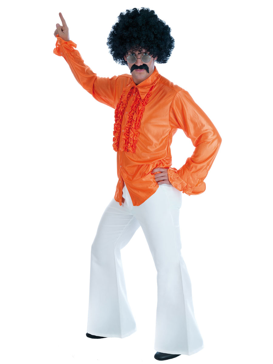 Vêtement Disco Disco blanc évase pantalon