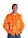 Vêtement Disco 70 ' s Mens chemise en Satin Orange