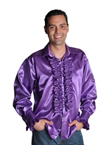70 ' s Mens Shirt PURPLE Vêtement Disco